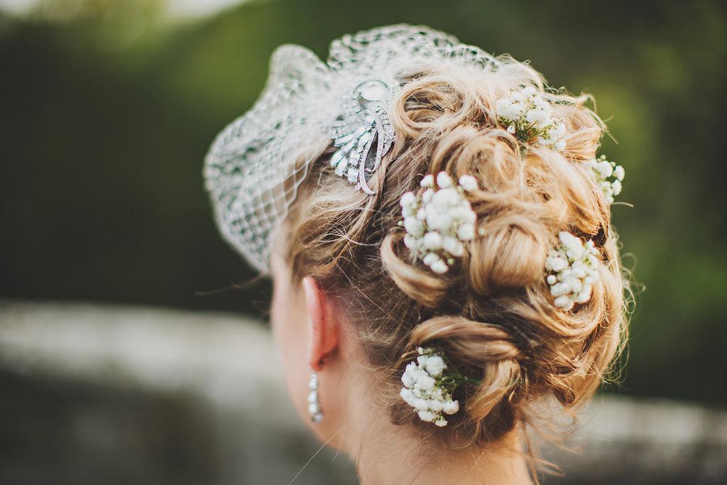 Jessica's Wedding at Mannings Heath Bridal Hair Look