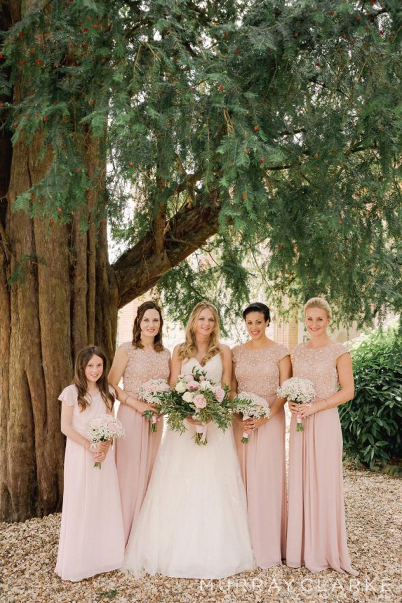 Natalies Wedding at Farnham Castle Natalie With Bridesmaids