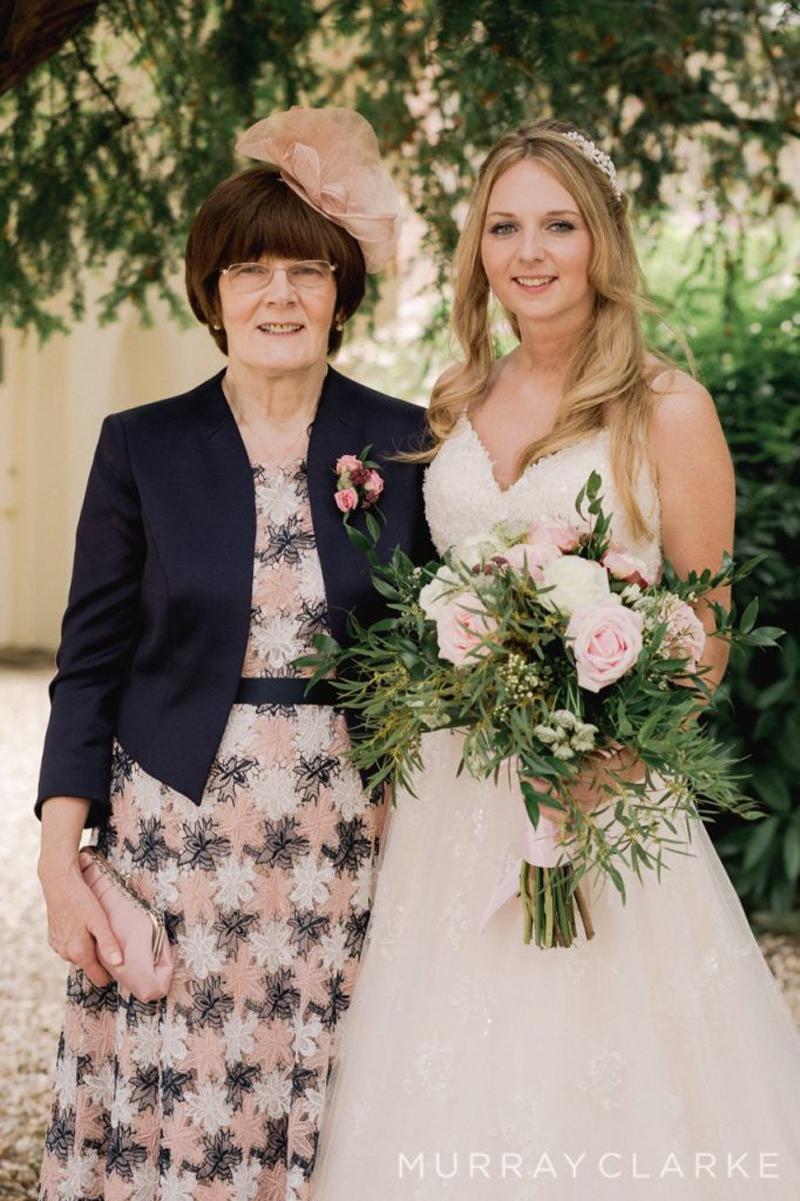 Natalies Wedding at Farnham Castle Natalie With Mum
