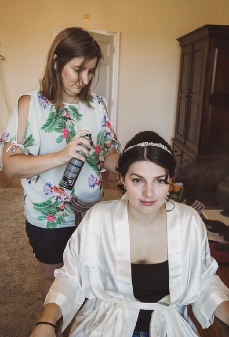 edding hair and makeup Botleys Mansion