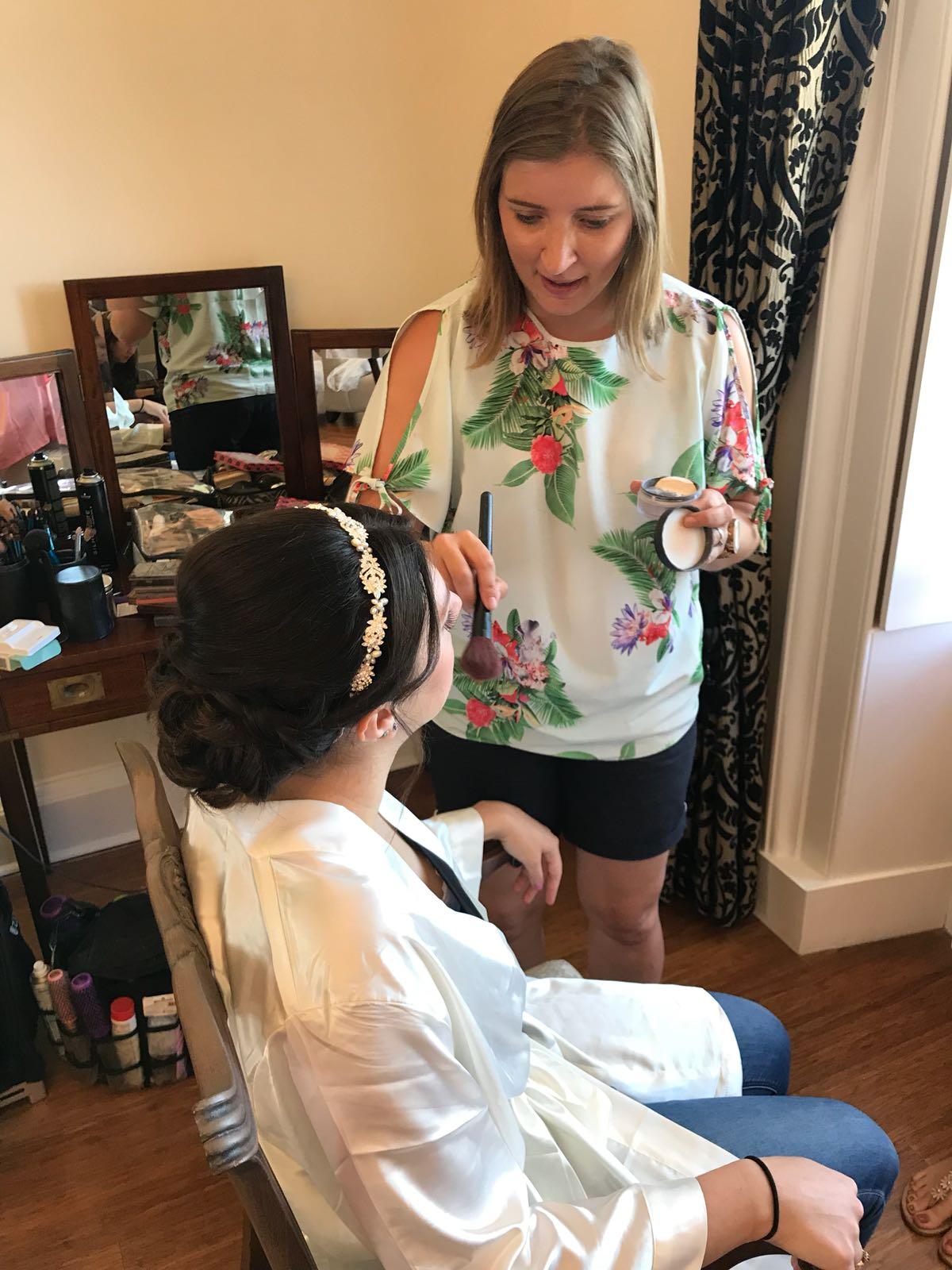 Wedding hair and makeup Botleys Mansion