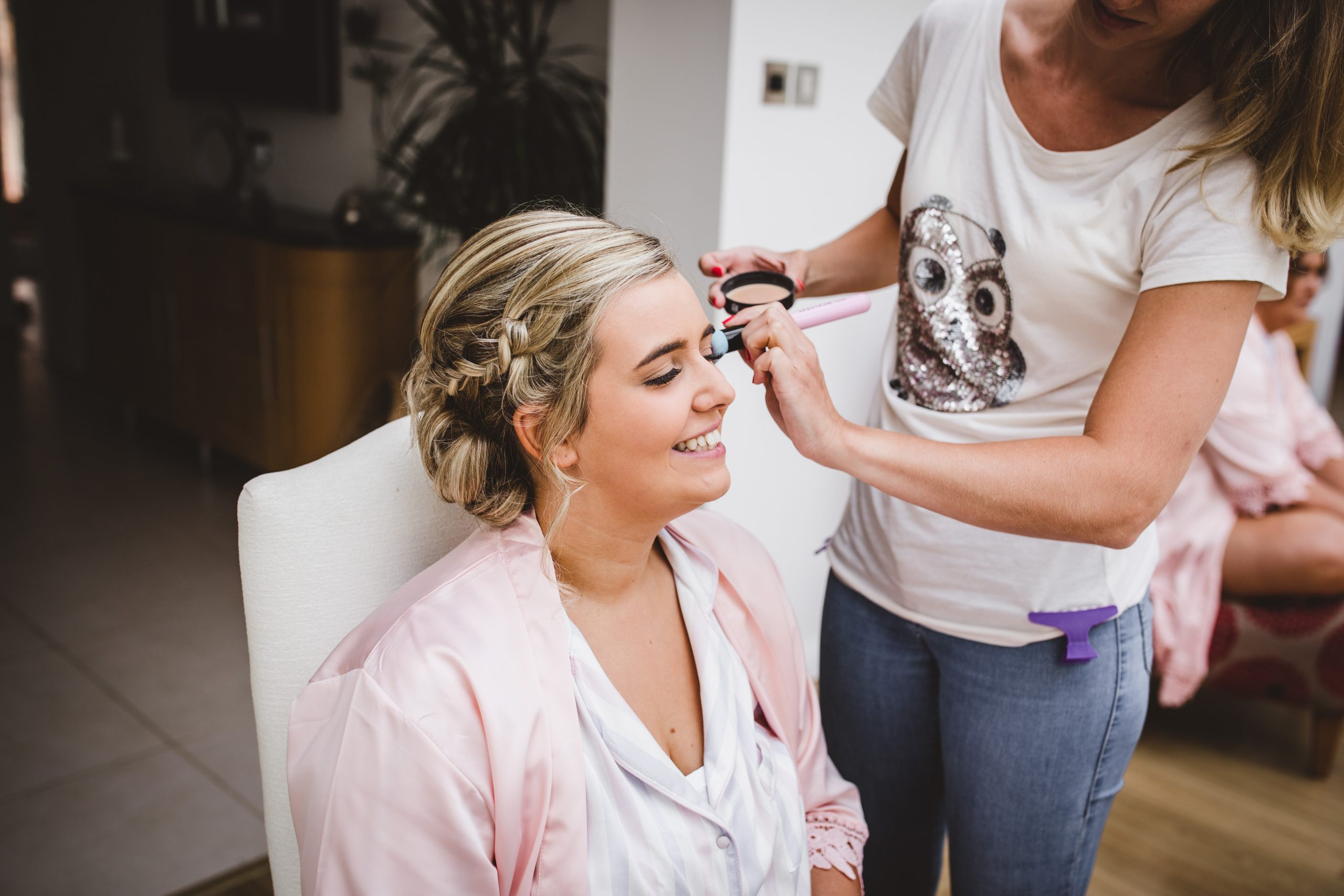 Wedding hair and makeup at farbridge