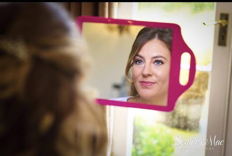 Bridal hair and makeup at Highfiled park Reading